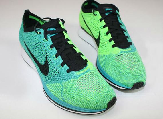 68eba7fd4262 Nike Flyknit Racer Turquoise Lucid Green - WearTesters