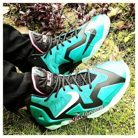 0e953082437 Nike LeBron 11  South Beach  - On-Feet Look - WearTesters