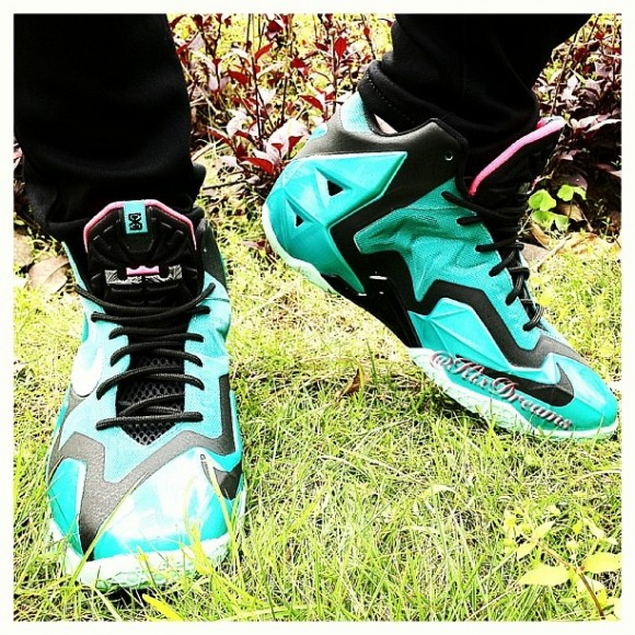 b548d207556 Nike LeBron 11  South Beach  - On-Feet Look 2 - WearTesters