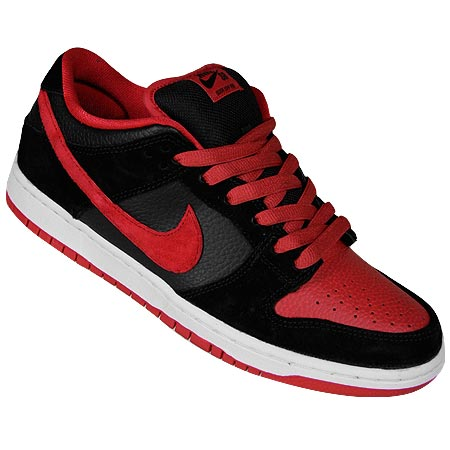 38b5c0ca The Nike Dunk Low Pro SB NT is in stock at SPoT Skate Shop! Price is $85.  The black and red colorway on this kick is fierce.