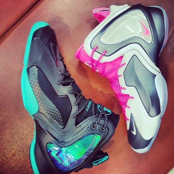 huge selection of 60beb 8726c Nike Lil Penny Posite Hyper Jade  Hyper Pink - First Look ..