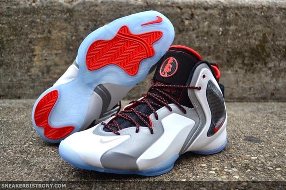 5a160b4874c9b Nike Lil Penny Posite Reflective Silver Black – Challenge Red - Beauty  Shots 1