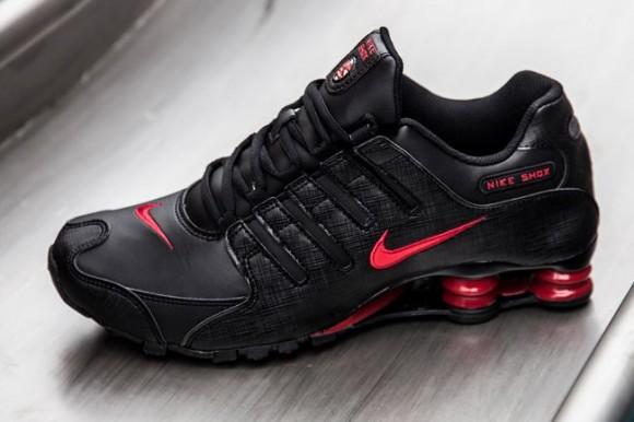 on sale 327ae e5a9a ... nike-shox-nz-black-gym-red-1 ...