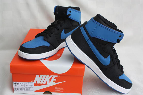 Air Jordan 1 AJKO Retro Black Sport Blue - Detailed Look 1