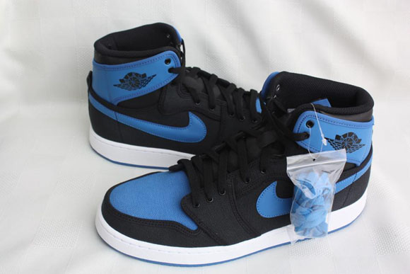 Air Jordan 1 AJKO Retro Black Sport Blue - Detailed Look 2