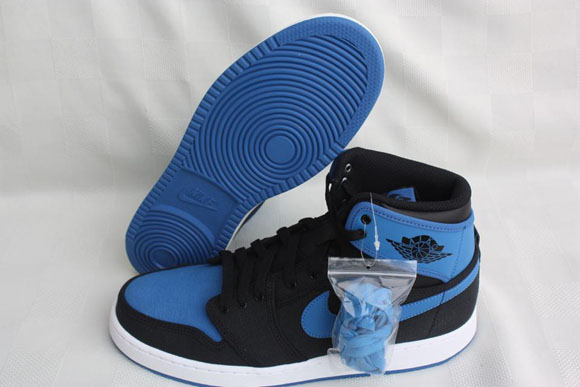 Air Jordan 1 AJKO Retro Black Sport Blue - Detailed Look 3