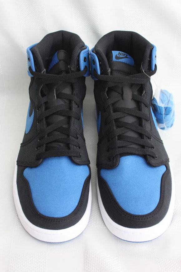Air Jordan 1 AJKO Retro Black Sport Blue - Detailed Look