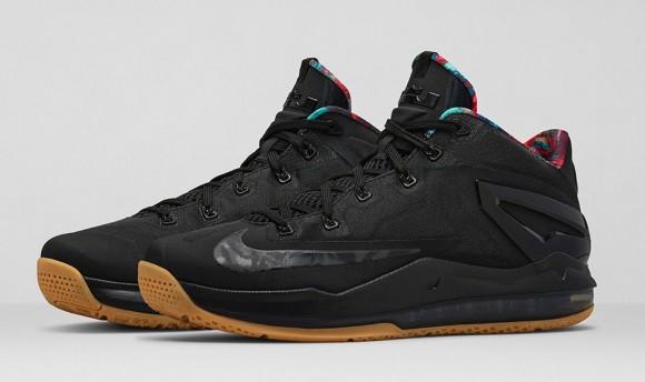 cc8331de6374 Nike Lebron 11 Low Black Black-Hyper Crimson-Hyper Cobalt- Release ...