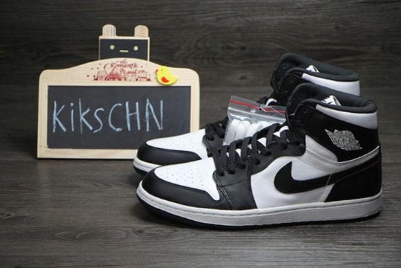 4504ae8f84d16b Air Jordan 1 Retro High OG Black White - Detailed Look 3 - WearTesters