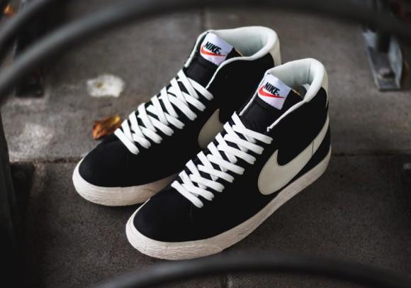 pretty nice 846bf 61c0d Nike Blazer Mid Premium Vintage Black White 1 ...