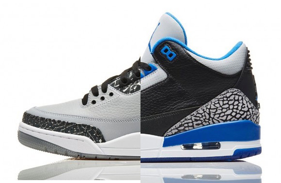 0991fe4c16245 Air Jordan 3 Retro  Sport Blue     Wolf Grey  - Restocked - WearTesters