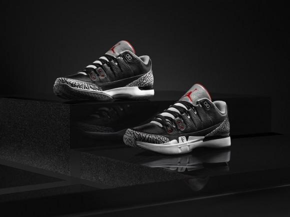 1578e0d3a44c Nike Zoom Vapor Air Jordan 3  Black Cement  - Release Information ...