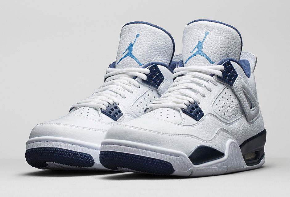 newest ff934 49ed4 Air Jordan 4 Retro  Columbia Legend Blue  - Official Look + Release ...