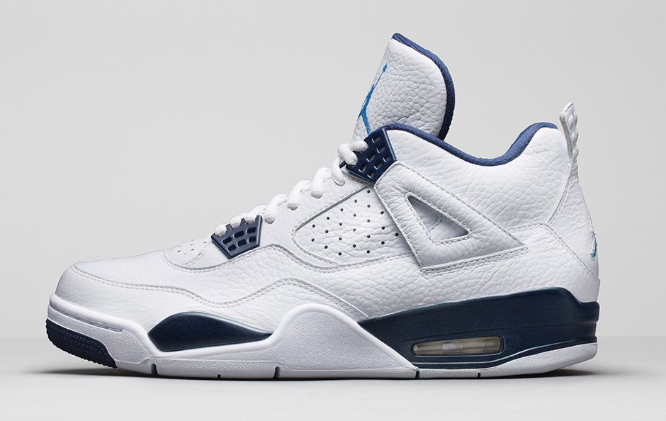 detailed look 5f54f 6f57f ... Air Jordan 4 Retro  Columbia Legend Blue  - Official Look + Release ...