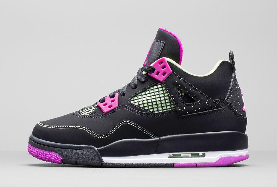 Girls Air Jordan 4 Retro  Fuchsia  - Available Now - WearTesters 9c2ce5297