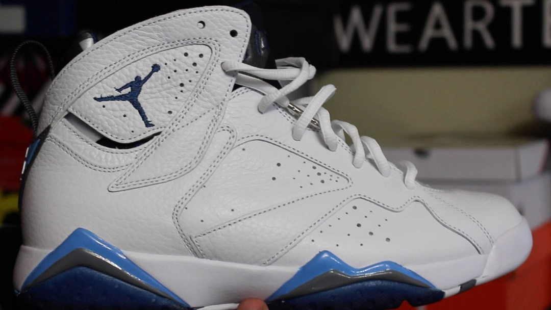 3577a1c307eb9d Air Jordan 7 Retro  French Blue  2015 - Detailed Look   Review ...