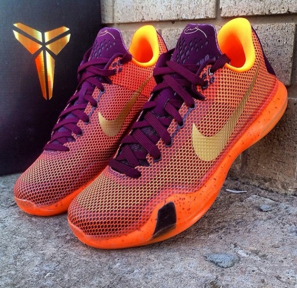 e85271e22d0c Nike Kobe X Merlot  Metallic Gold - Villain Orange - WearTesters