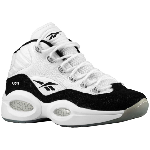 a5867ade8d2 Reebok Question Mid White  Black - WearTesters