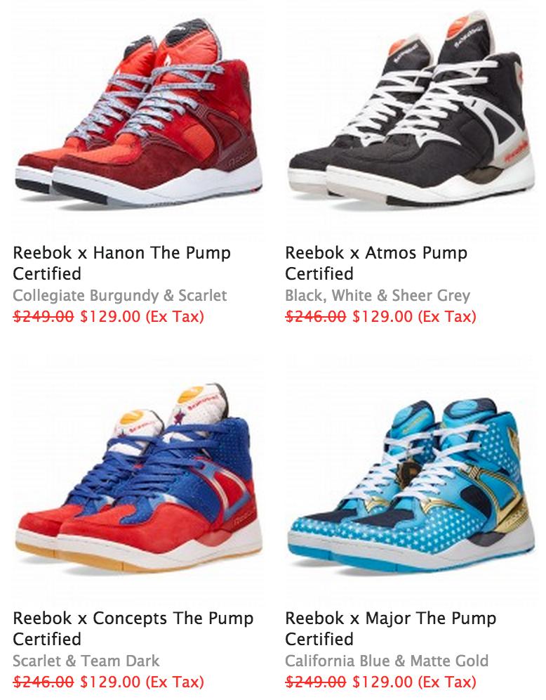2225b28f1faffe Reebok Pump Collabs on Sale for $129