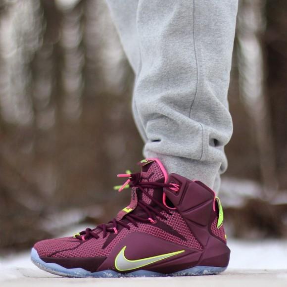 half off 50df1 28ae0 Nike LeBron 12  Double Helix  – On-Feet Look - WearTesters