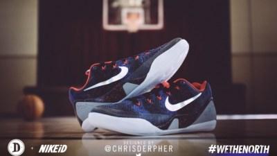 DeMar DeRozan Wore  chrisderpher Designed Nike Kobe 9 EM iD 1bc9f74d353c