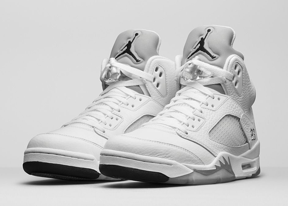buy online 48798 c5a0c Air Jordan 5 Retro  Metallic Silver  - Available Now - WearTesters