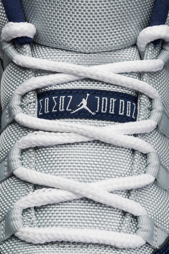 Air Jordan 11 Retro Low 'Georgetown: Grey Mist' tongue