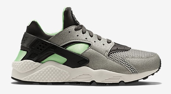 Nike Air Huarache Mine Grey  Poison Green - Available Now - WearTesters 4d431ae2c205