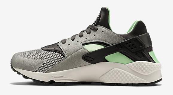 new style f339c 80fc3 ... Nike Air Huarache Mine Grey  Poison Green medial side ...
