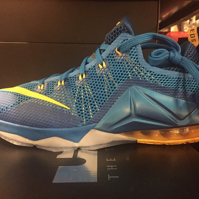 ... 50% off nike lebron 12 low photo blue lateral cdbe4 c51c8 6c406d933