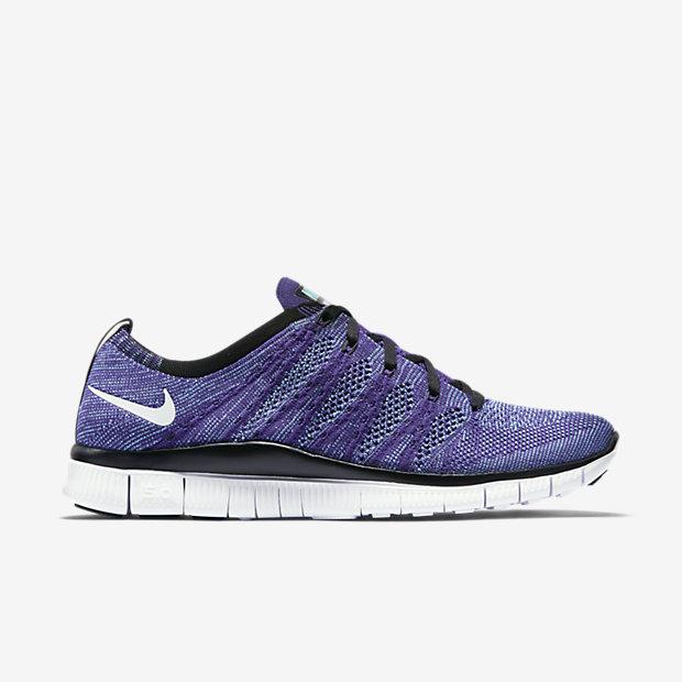 sports shoes d71db 98cf6 Pink Flash · Nike Free Flyknit NSW Court Purple Side