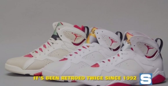 a6e910a843d VIDEO: Air Jordan 7 'Hare' Retro vs. 1992 Original - WearTesters