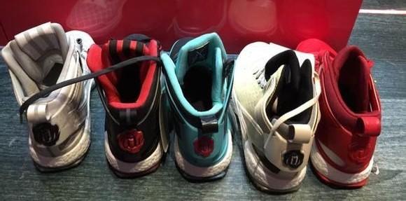 adidas D Rose 6 Boost upcoming colorways heels