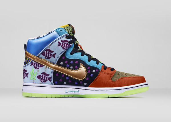 Past Designs Collide on the Nike Dunk High SB  What The Doernbecher ... d495a082d3