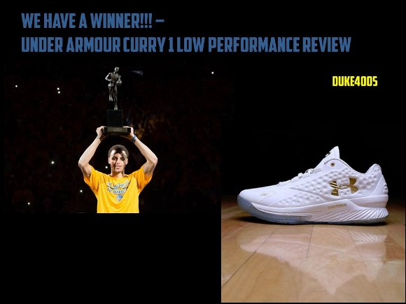d7748c134c05 Performance review of the Under Armour Curry 1 low