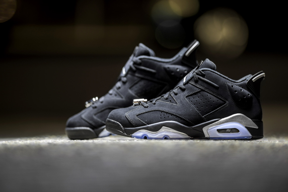 82a1a1e77c8885 Get Up Close and Personal with the Air Jordan 6 Retro Low in Black Chrome 1  ...