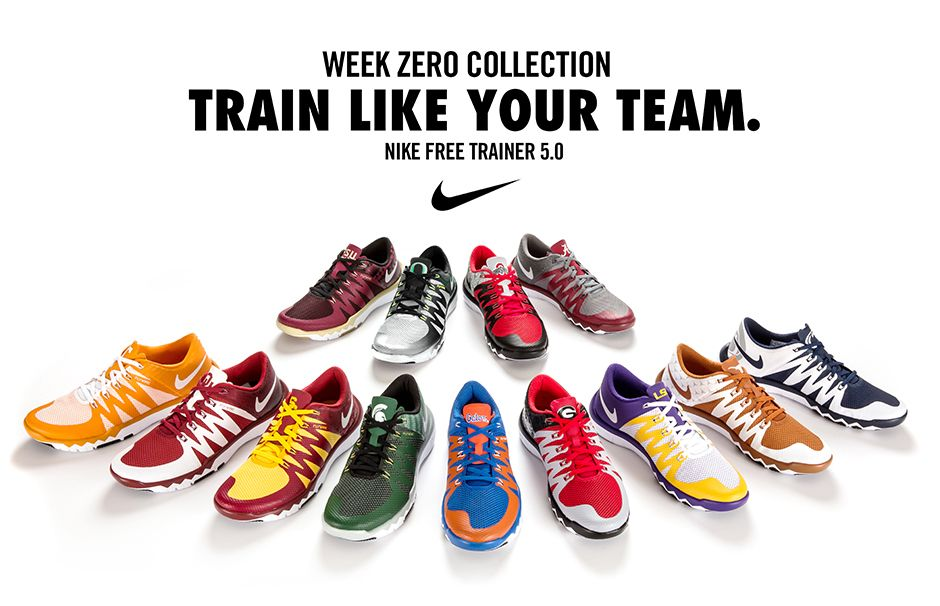 6f63d364b2 Rep Your College w/ the Nike Free Trainer 5.0 V6 'Week Zero ...