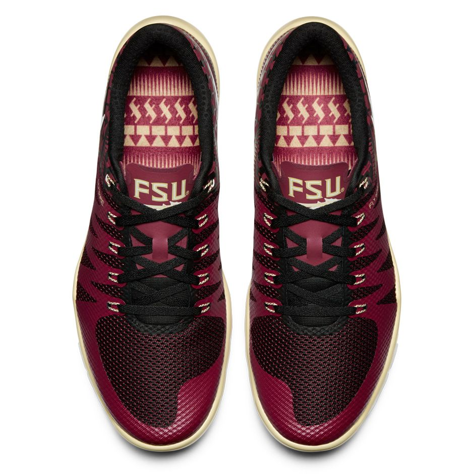40d129ed3e8d Nike Free Trainer 5.0 V6  Week Zero  Florida State Seminoles Top View