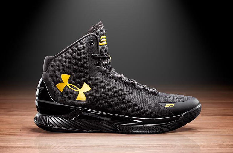 bd5cd4612d82b Where to Cop the Under Armour Curry One  Black and Gold Banner ...