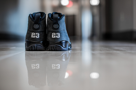 timeless design cc7c4 46a45 ... Get up close and personal with the Air Jordan 9 Retro  Anthracite  ...
