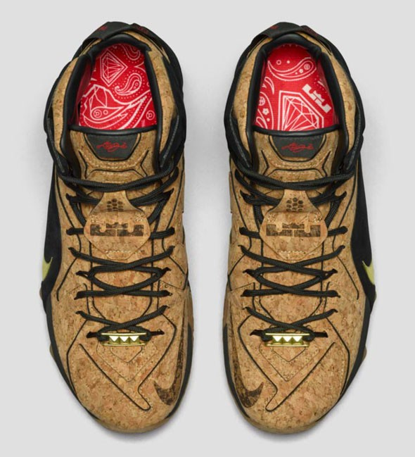 Nike LeBron 12 EXT 'King's Cork' top view