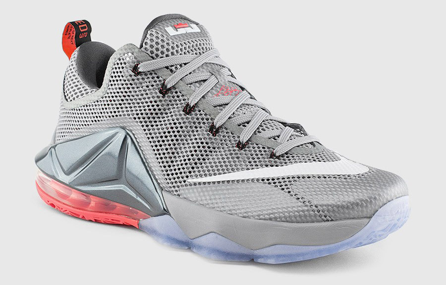 230a5680042 7bccf dbe9a  coupon for nike lebron 12 low grey red 062b1 dbc92