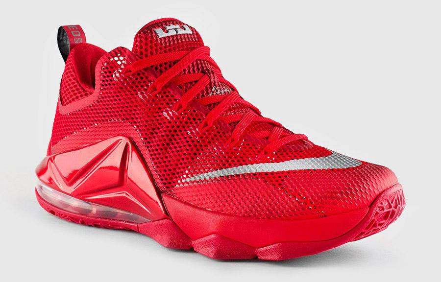 low priced 15b84 08dcf Nike LeBron 12 Low university red
