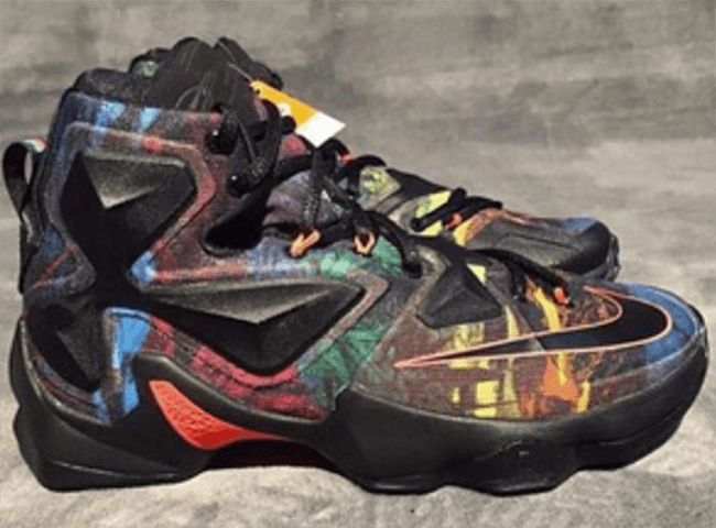 aa35362fddb20 Multiple Colors Make Up This Nike LeBron 13 - WearTesters