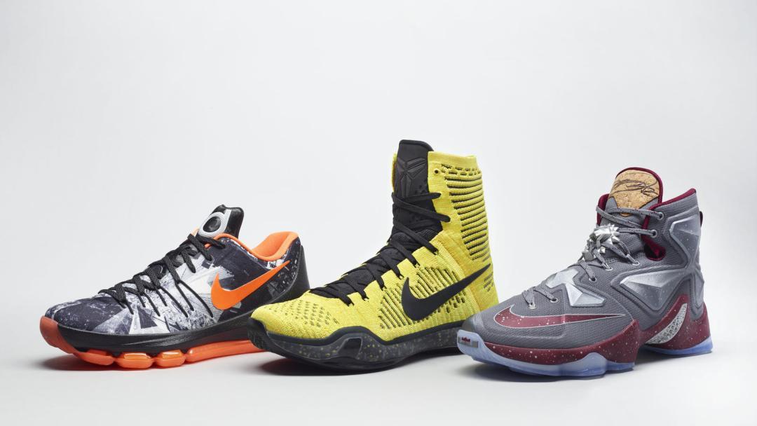 online retailer b6049 66a26 Nike Basketball  Opening Night  Pack (LeBron 13, Kobe X, KD 8 ...