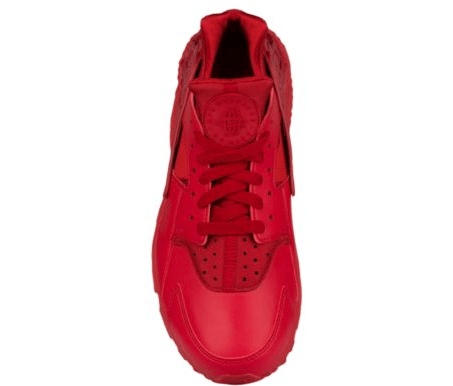 save off 37710 239d8 Nike Air Huarache All Red Leather Toe top view