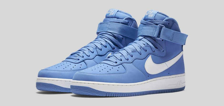 new concept b1009 6e436 Nike Air Force 1 High  Carolina Suede  – Available Now - WearTesters