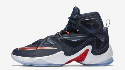 774726b5ac25 Rep USA Colors in the Nike LeBron 13  Team
