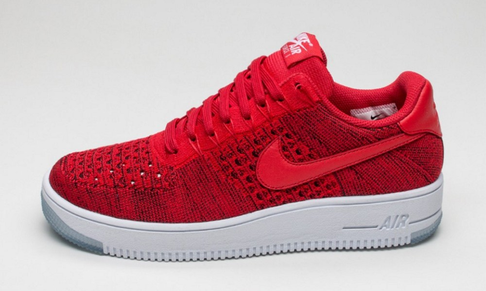 239bb6ebebac6 Check Out the Nike Air Force 1 Ultra Flyknit Low in  University Red ...