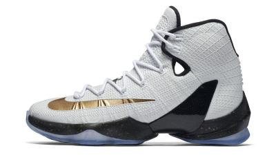 best website a44fd d52eb Kiss the Ring in the Nike LeBron 13 Elite in Metallic Gold